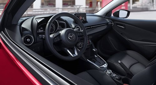 Mazda 2 Interior Black Cloth
