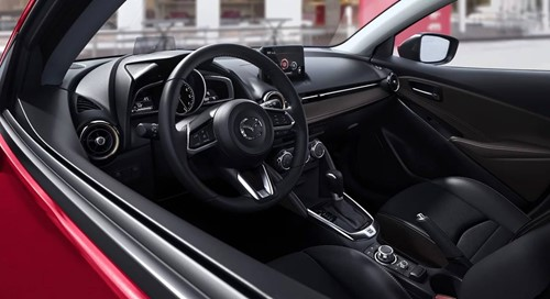 Mazda 2 Interior Black Leatherette